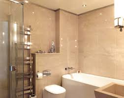guest bathroom floor and wall cladding in crema imperiale polished