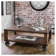 Weathered Wood Coffee Table Sun U0026 Pine Reymond Weathered Industrial Coffee Table Dark Oak Target