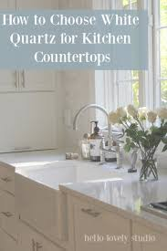 what color countertop goes with white cabinets how to choose the right white quartz for kitchen countertops