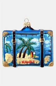 delightful tropical hawaii suitcase ornament ornament reviews