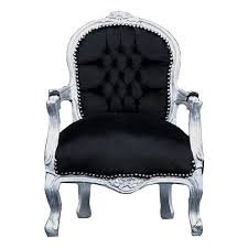 kids black armchair kids chairs elegant silver leafed child s chair in black a must