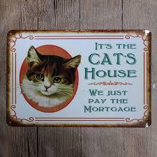 metal tin sign its the cat house decor bar pub home vintage retro