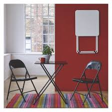 White Folding Dining Table Airo White Metal 2 Seat Folding Dining Table Buy Now At Habitat Uk