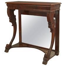 Mahogany Console Table Early 19th Century English Regency Narrow Mirrored Mahogany