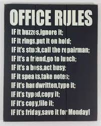 office wall art wooden wall art office rules sign