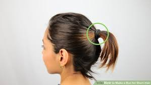 easy messy buns for shoulder length hair 3 ways to make a bun for short hair wikihow