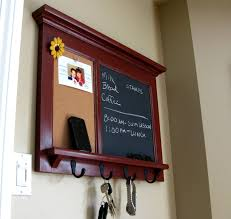 Entryway Wall Organizer by Wall Shelf Bulletin Board Cork Board Kitchen Chalkboard Keyhook