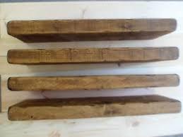 Thick Floating Shelves by 4 X 65cm Reclaimed Style Chunky Floating Shelf Shelves Wooden Ebay