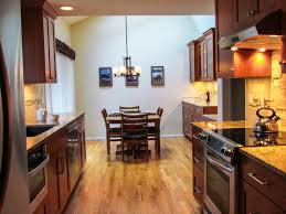 Rectangular Kitchen Ideas Kitchen Low Cost Small Galley Kitchen Design With Red Accent