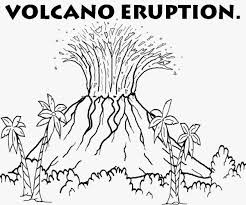 drawn volcano volcano eruption pencil and in color drawn volcano