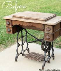 Old Furniture Diy Old Sewing Machine Redo To Nightstand