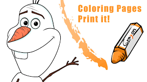 draw olaf frozen create coloring pages
