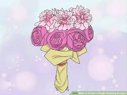 Wedding Flowers Drawing How To Create A Purple Wedding Bouquet With Pictures Wikihow