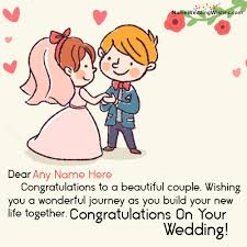 congratulations on your wedding congratulations on marriage image with name