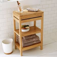 Bamboo Shelves Bathroom Bamboo Storage Cabinet Bathroom Organizer Shelf Wood Floor Tower