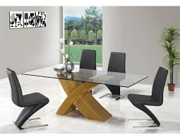 Glass And Oak Dining Table Set Glass Dining Table 6 Chairs Sale Gallery Dining