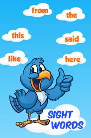 sight words flashcard 1000 words for kids in preschool pre k