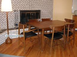 Mid Century Modern Dining Room Table And Chairs Of Worthy Teak - Danish teak dining room table and chairs