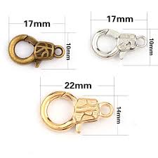 bracelet clasps images New handcuffs lock rose gold white k lobster clasps hook key chain jpg