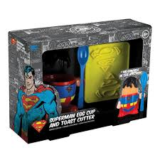 superman peppa pig and other superhero egg cup spoon u0026 logo toast stamp breakfast set dc