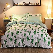 Children S Duvet Cover Sets Amazon Com Auvoau Simple Cactus Bedding Children U0027s Cartoon Duvet