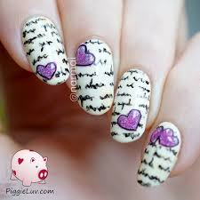 love nail art crafthubs prettyfulz blue polka dot nail art love