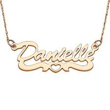 14kt gold name necklace personalized women s 14kt gold script name necklace with open
