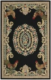 Rooster Area Rug The Rug Market Closeout Rooster Toile Red 16167 Red And White Area