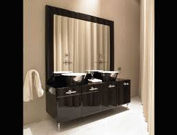 Bathroom Vanities And Mirrors Sets Bathroom Large Bathroom Vanity Mirror With Black High Gloss