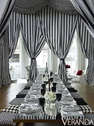 Black White Stripe Curtain Well Prepared Celerie Kemble Entertains Circus White