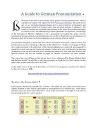 a guide to german pronunciation consonant english language