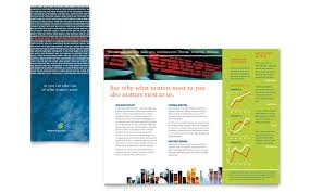 investment securities company tri fold brochure template word