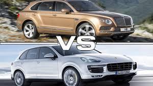 porsche cayenne turbo vs turbo s 2016 bentley bentayga vs 2016 porsche cayenne turbo s