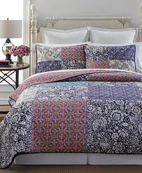 Macy S Bed And Bath Martha Stewart Collection Potpourri Patchwork Quilt And Sham