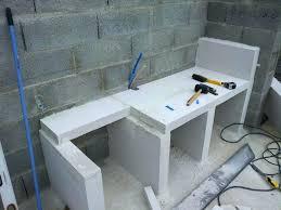 cuisine d ete en beton cellulaire plan de travail cuisine exterieure plan de travail exterieur en