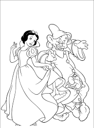 snow white coloring pages free snow white cartoon coloring pages