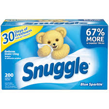 Best Fabric For Sheets by Snuggle Dryer Sheets Blue Sparkle 200 Sheets Walmart Com