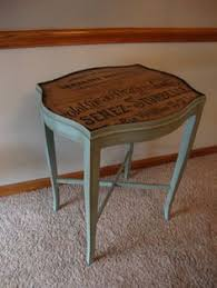 side table paint ideas red chevron painted round side table revived vintage drum table