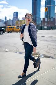 New York travel blazer images Navy gingham blazer covering the bases fashion and travel blog jpg