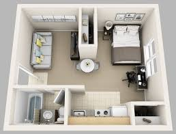 One Bedroom Apartment Plans And Designs Enjoyable Ideas One Bedroom Studio Apartments Apartment Plans