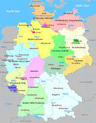map of regions of germany germany regions map major tourist attractions maps