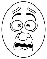 creepy clipart scared cartoon face clip art 57