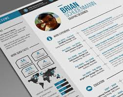 Infographic Resume Template Infographic Resume Etsy