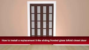 Glass Bifold Closet Doors Closet Doors With Frosted Glass