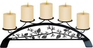 village wrought iron pillar candle holders