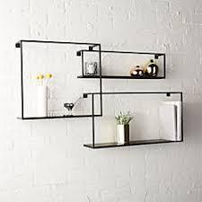 Bathroom In Wall Shelves Modern Wall Decor And Wall Shelves Cb2
