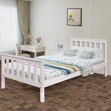 White Wood Single Bed Frame Oak Bed Frame Sale Blue Wood Single And Mattress