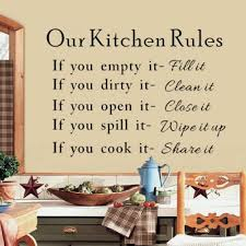our kitchen rules cook words quote wall stickers vinyl art decals