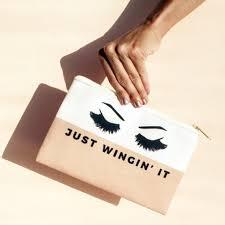 just wingin u0027 it makeup bag makeup pouch custom bag more colors