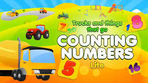 trucks and things that go counting numbers preschool and
